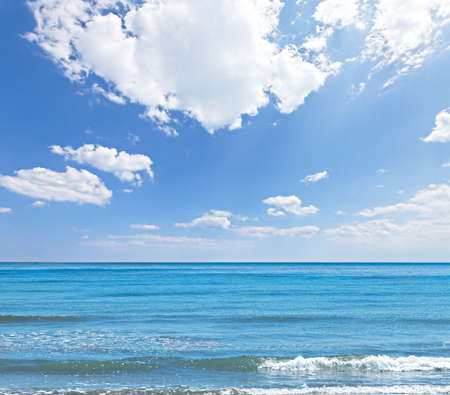 Sea and blue sky background