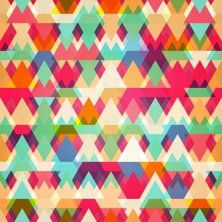 Illustration pour colored triangle seamless pattern - image libre de droit