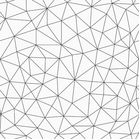Illustration pour monochrome contour triangles seamless pattern - image libre de droit