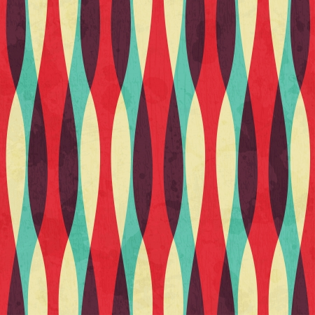 Photo for retro curves seamless pattern with grunge effect - Royalty Free Image