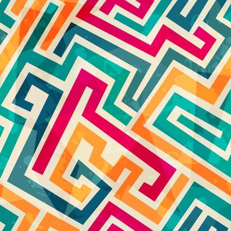 Illustration pour colored lines seamless pattern with grunge effect - image libre de droit