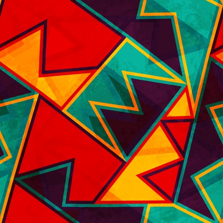 Ilustración de vintage bright seamless texture with grunge effect - Imagen libre de derechos