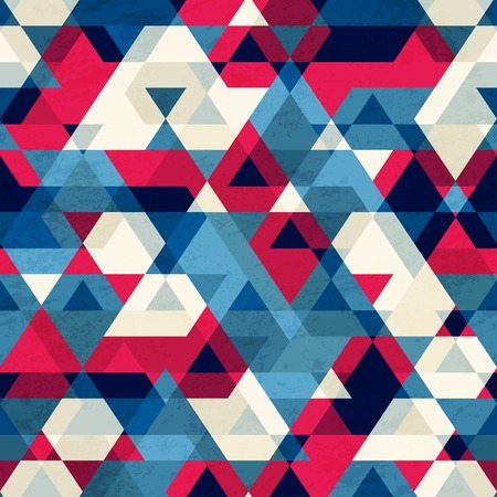 Illustration for vintage triangle seamless pattern - Royalty Free Image