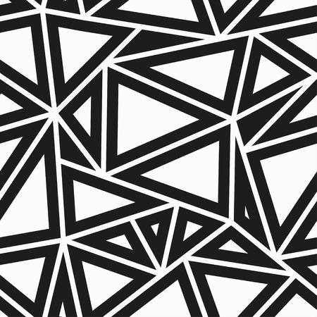 Illustration pour monochrome triangle seamless pattern - image libre de droit