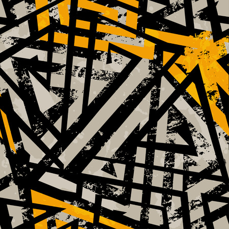Illustration pour urban geometric seamless pattern with grunge effect - image libre de droit