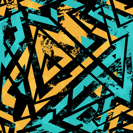 Illustration pour urban seamless pattern with grunge effect - image libre de droit