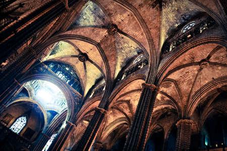 Foto de Inside of Sagrada Familia - Imagen libre de derechos