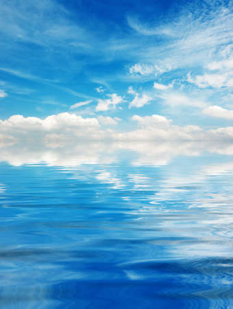 Photo for Blue sky with clouds over Lake - Royalty Free Image