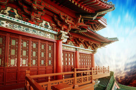 Photo for Beautiful asian temple on the blue sky background - Royalty Free Image