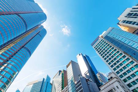 Photo for modern business center in hongkong - Royalty Free Image