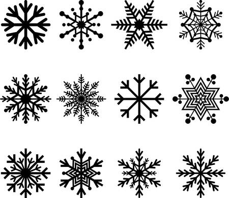 Illustration for Set of abstract Snowflakes - Royalty Free Image