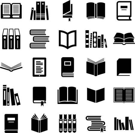 Illustration pour Set of Book icons - image libre de droit