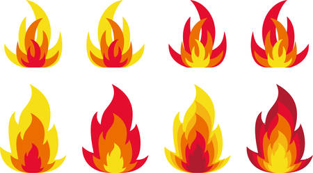 Illustration for Flames - Royalty Free Image