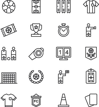 SOCCERFOOTBALL outlined icons