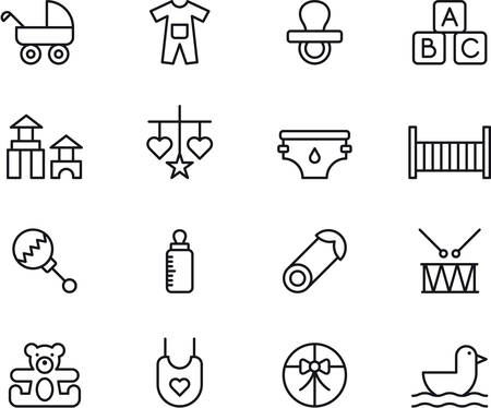 BABY outlined icons