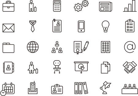 Illustration pour BUSINESS outlined icons - image libre de droit