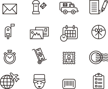 POST SERVICE outline icons