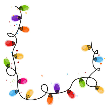 Foto de Christmas light bulb new year greeting card vector - Imagen libre de derechos