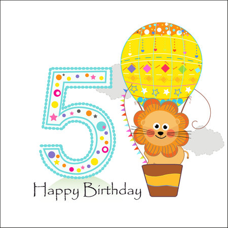 Illustration pour Sign In Happy birthday greeting card - image libre de droit