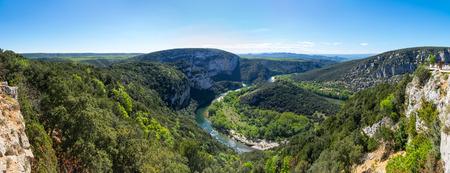 Photo pour View of Ardeche Gorges, locally known as the European Grand Canyon, France - image libre de droit