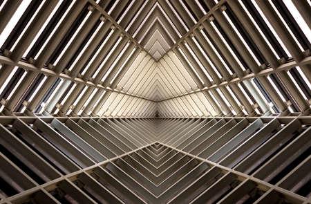 Photo pour metal structure simelar to spaceship interior - image libre de droit