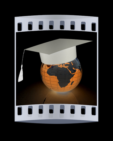 Global Education on a black background. The film strip