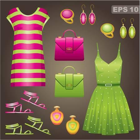 Illustration for Fashion set   - Royalty Free Image