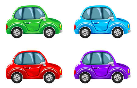 Illustration pour Cartoon cars.  Vector illustration - image libre de droit
