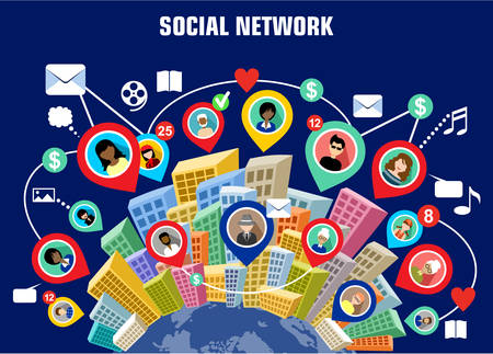 Illustration for Social network concept - Royalty Free Image