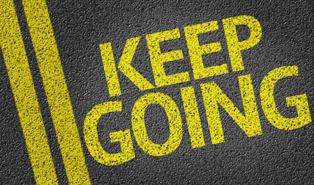 Photo for Keep Going written on the road - Royalty Free Image