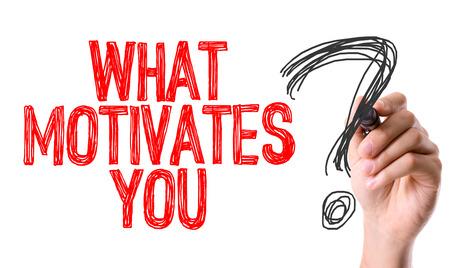 Photo pour Hand with marker writing: What Motivates You - image libre de droit