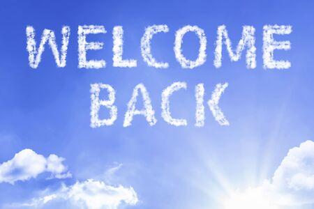 Foto de Welcome back with sky concept - Imagen libre de derechos