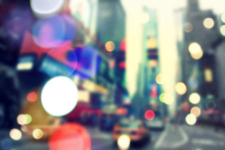 Foto für Blurry bokeh background of vintageTimes Square in New York - Lizenzfreies Bild