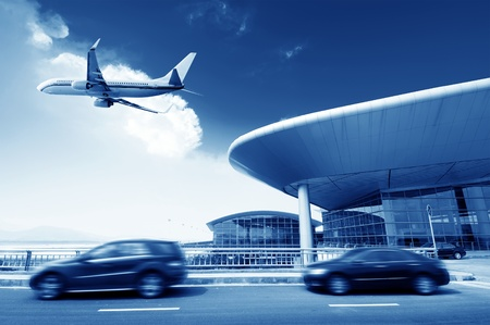 the scene of T3 airport building in beijing china
