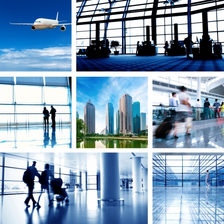 business travel background about train and airplane,the concept about passenger traveling