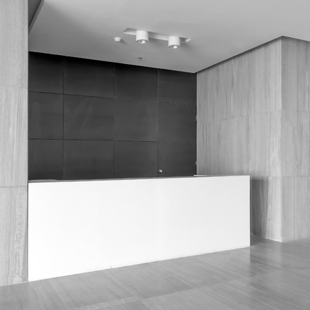 Photo for The new office reception area, clean and bright. - Royalty Free Image