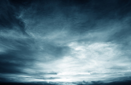Photo for Background of dark clouds before a thunder-storm - Royalty Free Image