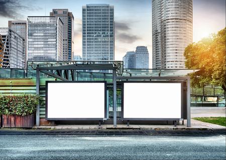 Foto de The blank side of the road city billboards - Imagen libre de derechos