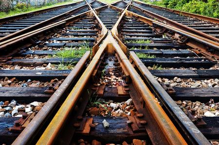 Photo pour Close-up close-up shots of the tracks - image libre de droit