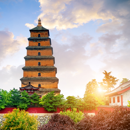 Photo for Giant Wild Goose Pagoda in the Morning, Xi'an, China - Royalty Free Image