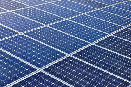 Photo pour Background of Blue Solar Panels - image libre de droit