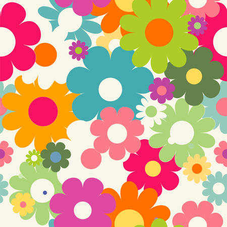 Illustration pour Seamless pattern with flowers - image libre de droit