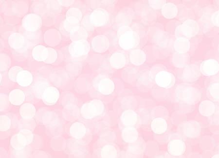Ilustración de Abstract pink bokeh background with light circles. Vector holiday illustration for wedding or Mothers Day decoration - Imagen libre de derechos