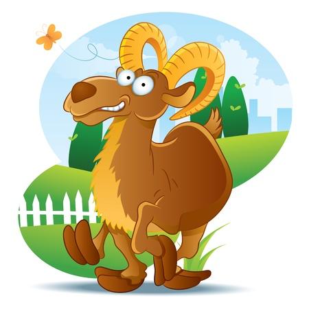 Goat Illustration Cartoon