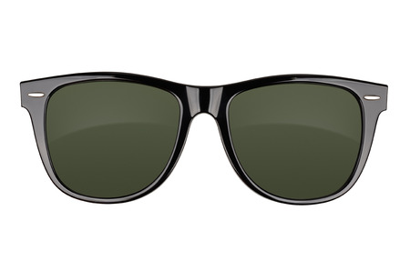 Foto de Black sunglasses isolated on white background. With clipping path - Imagen libre de derechos