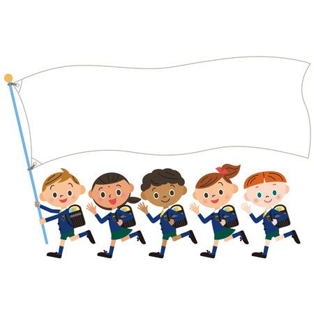Children and flag of the, Shinnyu study