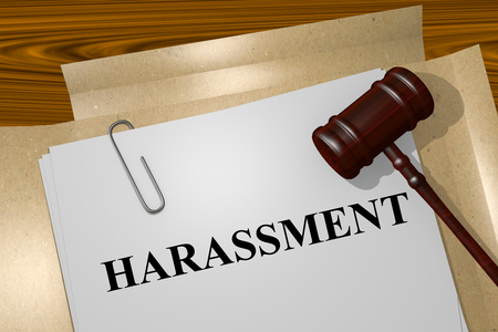Photo for Render illustration of Harassment title On Legal Documents - Royalty Free Image