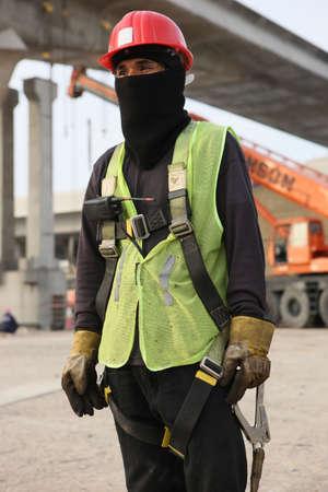 Dubai Metro Construction Worker