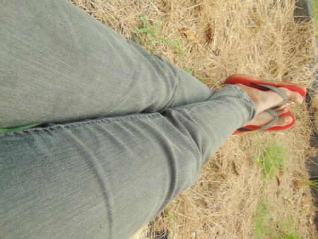 Photo pour Relaxing in hay outdoors - image libre de droit