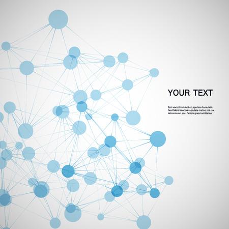 Ilustración de blue molecules - Imagen libre de derechos